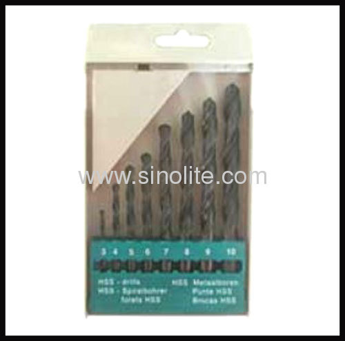 HSS Twist Drill 8pcs--(3-10x1mm)