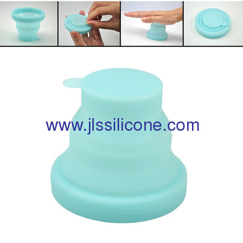 Easy carry and stock silicone foldable travel cup