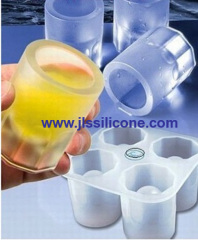 cup shaped silcione ice cube trays