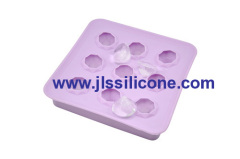 9 diamond shaped silicone ice tray
