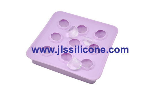 9 diamond shaped silicone ice tray