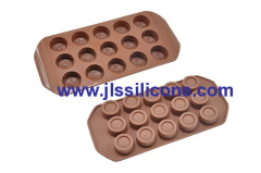 hot sale silicone chocolate candy mold in round shape