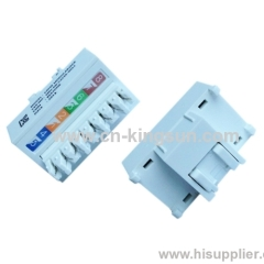 Korean type cat. 5e RJ45 Keystone Jack