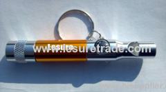 Multifunction led torch keychain with whistle and compass