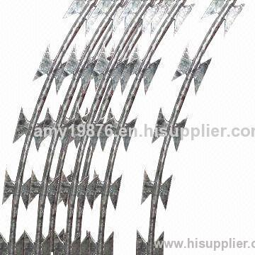 Concertina Razor Barbed Wire with BTO22/BTO65 Blade, 450 to 960mm ...