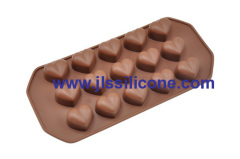 heart shaped silicone chocolate molds