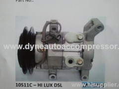 Auto AC compressor for TOYOTA HILUX DLS R134A 110MM PV7
