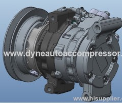 auto AC compressors 10S11C for toyota HILUX 110mm PV7