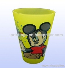 Heat transfer film for plastic water cup