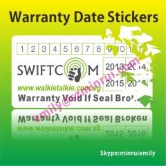 Printed Destructive Warranty Sticker