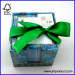 Christmas memo cube with silk ribbon