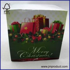 Christmas memo cube -paper cube