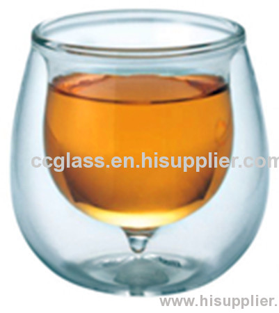 Highly Transparent Insulated Double Wall Glass Coffee Cup