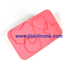 """missing set"" silicone chocolate candy mold"