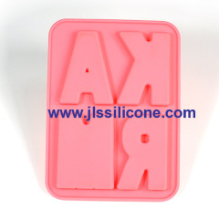 4 lcavity letter silicone chocolate candy mold