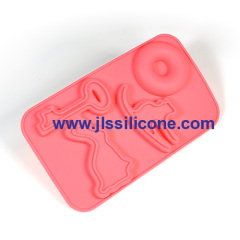 Elegant design silicone chocolate candy mold