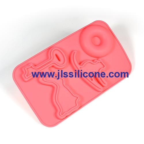 Elegant design silicone chocolate candy mold