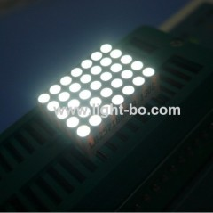0.7' white dot matrix led display; white 5 x 7 dot matrix led display