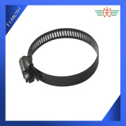 American Type Hose Clamp with black coated