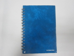 A4 4 subject hardcover spiral notebook/A-Z index notebook college ruled