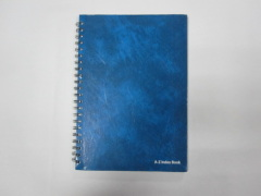 A5 4 subject hardcover double spiral notebook A-Z index notebook college ruled
