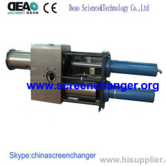 double slide bar continuous screen changer
