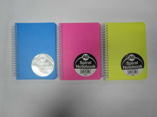 A6 3 subject college ruled PP cover notepad/notebook