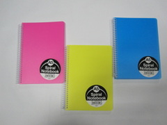A5 3 subject PP cover notebook college ruled