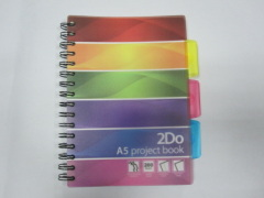 A5 PP cover project/index notebook college ruled