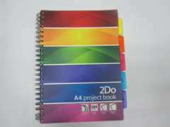A4 PP softcover project/index notebook college ruled