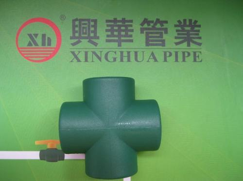 hot sale PPR fittings plumbing material Cross from China