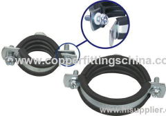 Standard Stainless Steel hose clamp with rubber