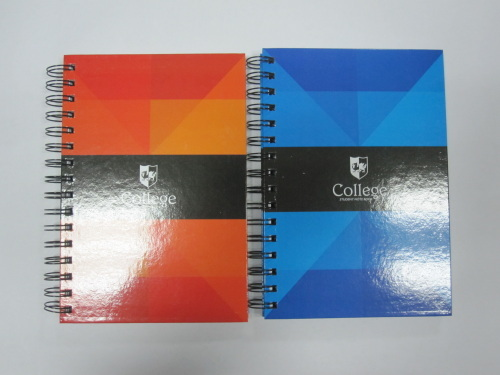 A5 2 subject spiral notebook/college notebook with cutting line