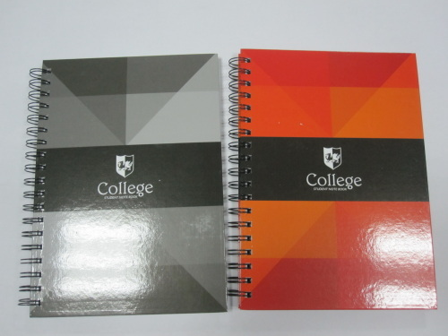 B5 2 subject spiral notebook/college notebook with cutting line