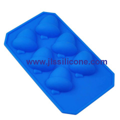 6 cavity pine nut silicone chcolate candy mold