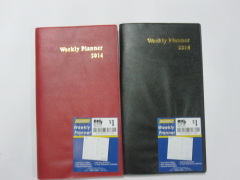 imitation leather cover weekly planner/notepad