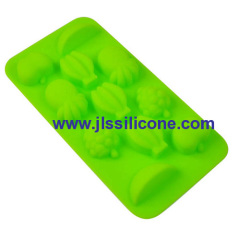 colorful fruit silicone chocolate candy mold