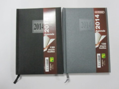 2 subject hardbound agenda/notebook/planner
