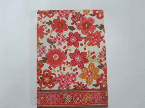 fabrics cover hardbound notebook/diary