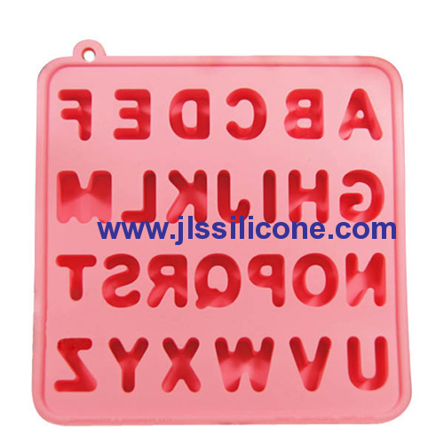 26 cavity alphabet silicone candy mold