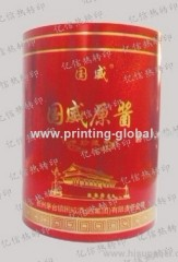 Gold Blocking Heat Transfer Printing For Wine Case