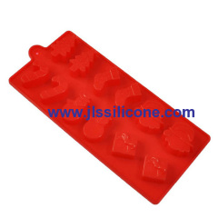12 cavity christmas gift silicone chocolate molds