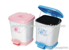 Heat transfer film for househould plastic garbage can
