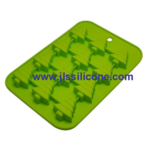 12 christmas tree silicone chocolate candy mold