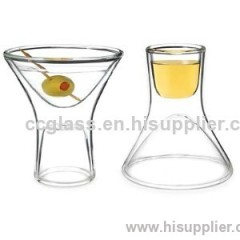 High Quality Inside Out Double Walled Martini Glasses wine glasses