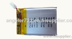 Li polymer battery recorder pen battery 3.7V 300MAh