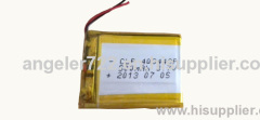Lithium battery 3.7V 500mAh li polymer battery rechargeable battery