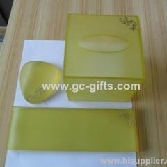 Elegant of yellow napkin box cover