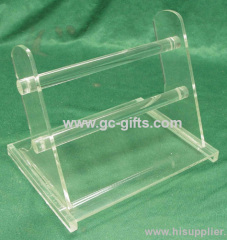 Diaphanous clear acrylic display rack for electronics product