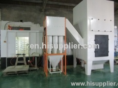 multi cyclone after filter powder recovery system of spray paint booth